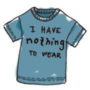 Følelsen af ikke at have noget i sit fyldte! klædeskab at tage på
