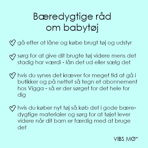 Råd til bæredygtigt tøjfobrug til din baby